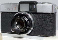 Olympus Pen -S no:320298.with lens hood and UV filter.