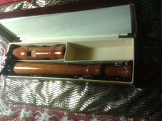ADLER (Blockfloete). Flute . Simple . Two-hole. Vintage. Never used Seasoned. Hand made, DDR 1950 (?).