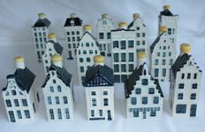 14 KLM Delft blue houses (Bols) incl. Anne Frank House!