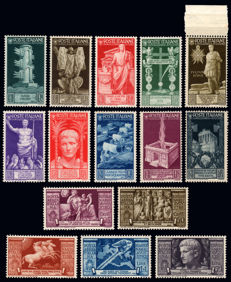 Kingdom of Italy, Augustus, 1937. Complete series.