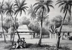 18 prints by Paul Lauters (1806 - 1875) & Charles William Meredith van de Velde (1818 - 1898) - Impressions of Java, Molukschen Archipel, Borneo, Celebs, Sumatra - 1844