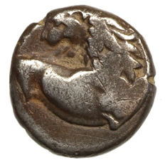 Antique Greece - Thracian Chersonesos (350-300 BC) AR hemidrachm, Lion, Lizard