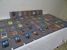 62 Games Nes Nintendo in very good state like Ducktales 1-2, MEGAMAN 2 ,Double Dragon , Shadow Warriors and more