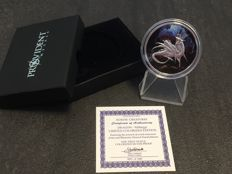 USA - Nordic Creatures - Nidhoggr 2016 - Proof - Colour Edition - With box & certificate - 999 silver