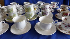English cups, various types - 24 x