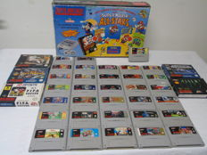 Snes Mario All Stars boxed complete incl 38 games - Rare games like Zelda , Castlevania , Illusion of Time , Donkey kong Country , Mario kart and more