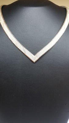 925 silver handmade vintage women´s necklace , No reserve!!