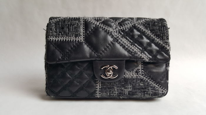 dce00431693 Chanel – Tweed Patchwork Flap bag – Limited edition - Catawiki