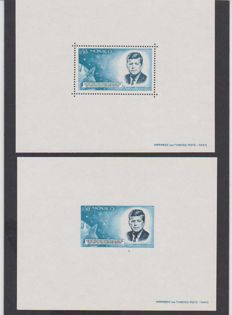 Monaco 1964 – Special blocks (serrated and non-serrated) Yvert no. 8 and no. 8a - Anniversary of the death of President J.F.Kennedy - Luxury