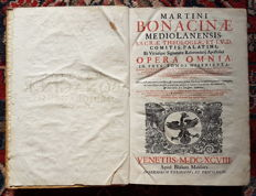 Martino Bonacina - Opera omnia in tres tomos distributa - 3 volumes - 1698