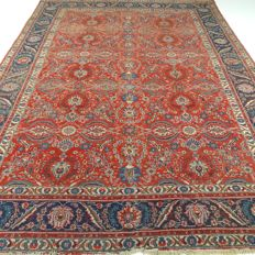 "Tabriz –  346 x 245 cm – ""Impressive Persian rug – Extra Large – Vintage – In beautiful, worn condition""."