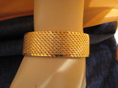 Bracelet marked 18 kt, GOLD-PLATED