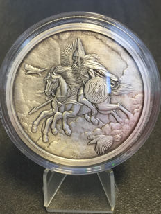 USA – 5 oz medal 2016 'Nordic Creatures – Sleipnir' with certificate – 5 oz silver