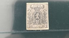 Belgium 1866 - 1 cent lion imperforate - OPB 22.