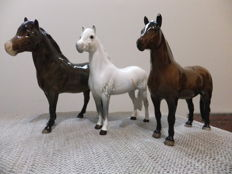 Set of 3 Beswick horses, Welsh M , Dartmoor , Exmoor