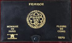 France – Paris coins – 1979 case FDC (10 coins) including 50 Francs (silver)