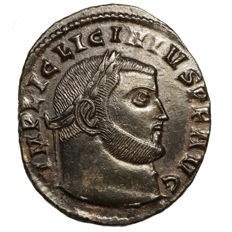 Roman Empire - Licinius I. (308-324) AE Follis, Siscia, Jupiter