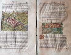 Italy, Ravenna, Vicovaro: Sebastian Munster - 2 pages with woodcuts - 1628
