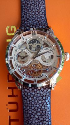 Stuhrling Original Anatol Skeleton Automatic Dual Time Watch.