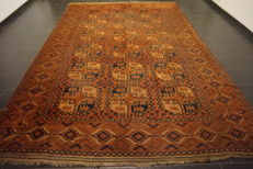 Wonderful antique hand-knotted Art Deco Afghan Esari Orient carpet 262 x 390 cm Afghan Made in Afghanistan