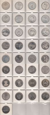 Germany, 10 euro (collection of 33 different commemorative coins), 2002-2014