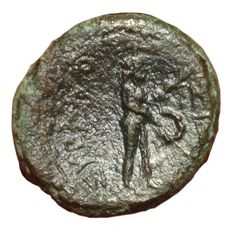 Greek Antiquity - Italy, Sicily, Syracuse, under Roman rule, after 212 BC - Æ (19mm; 5,08g.)  - Bust of Artemis / Female figure - Calc. II, 238