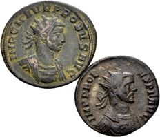 Roman Empire – Lot of 2 AE Antoninianus of Probus 276-282 AD