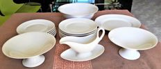 GINORI - antique porcelain dinner set for 6 - 17 pieces