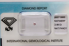 Natural Fancy Pink Diamond 0.06 ct  with IGI cert *** no minimum price***