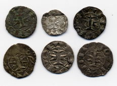 France (Languedoc) – Bishops of Maguelonne (11th to 12th century) – Melgueil Deniers & Obol (set of 6)