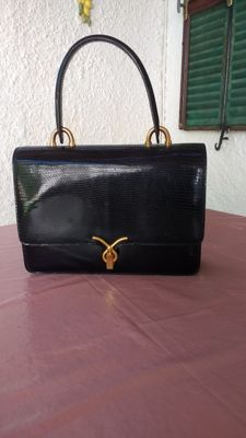 Vintage bag, lizard skin leather.