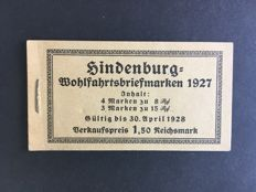German Empire 1927 – Stamp booklet – Michel 24.1.B.ndgz