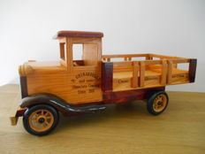 Wooden advertising truck of Chocolate Ghirardelli from 1960