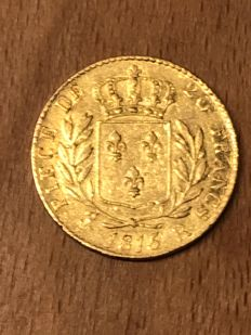 France - 20 Francs 1815 (R) London - Louis XVIII - gold
