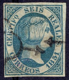 Spain, 1851 - Isabel II period - Edifil no.: 10.