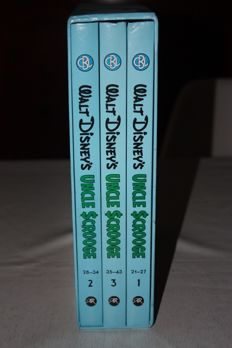 Carl Barks Library of Uncle Scrooge Vol.4 - 3 books in slipcase - hc - 1st print (1985)