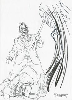 "Brindisi, Bruno - sketch for Dylan Dog ""Groucho e la Morte"""