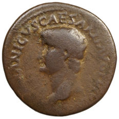 Roman Empire - GERMANICUS (t 19) AE As, restitution edition under Titus (80-81), S C