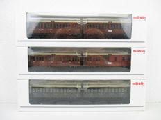 Märklin H0 - 42041 - Set with three 3-axle compartment carriage units of the KPEV