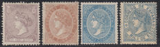 Spain 1866/1868 – Isabel II – Edifil numbers 85, 87, 88, 97