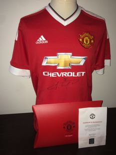 Jesse Lindgard, Manchester United, Signed shirt in official box + COA from the club.