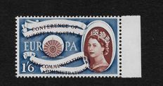 Queen Elizabeth, 1960 - Stanley Gibbons 622, 1/6d. with massive shift of brown printing