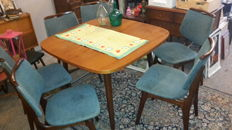 Producer unknown - teak wood table with 6 chairs