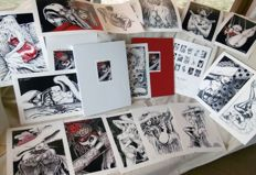 "Guerra, Nik - portfolio ""Pin-Ups"", with 15x lithographs (2015)"