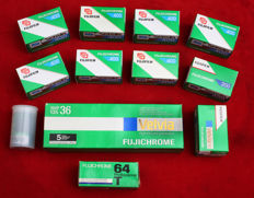 16 Fujichrome film slides 2009