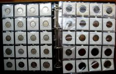 France - 1 Centime up to and including 100 Francs 1854/1993 (273 different coins) including 20 x silver in album