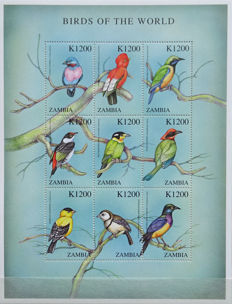 Zambia 1999/2003 - Collection of series, sheetlets and blocks in stock book