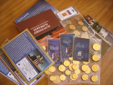 Europe - Lot 9 set  coin  ( 5 set euro official gold plated 24 carats     + 4 set coins)