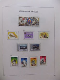 Netherlands Antilles 1950/1990 – Collection with completed main numbers, in Davo album
