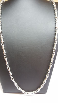 925 silver vintage unisex necklace, handmade, no reserve!